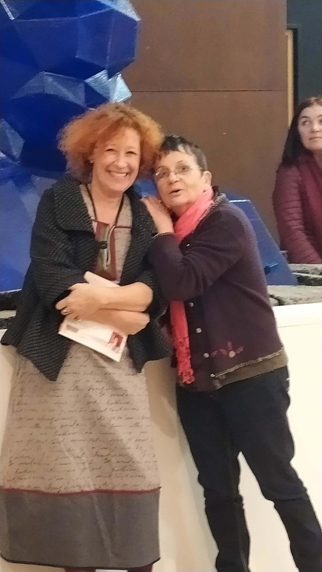 Christine Kunz au musée maritime de La Rochelle avec Josyane De Jesus-Bergey